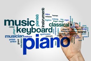 Piano word cloud